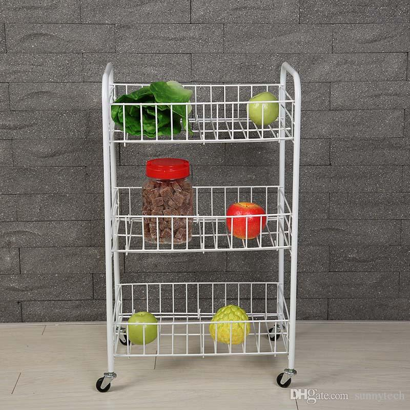 3-Tier Floor type Storage Racks Home Storage Organization Home & Garden carbon steel roller Storage Rack LZ0413