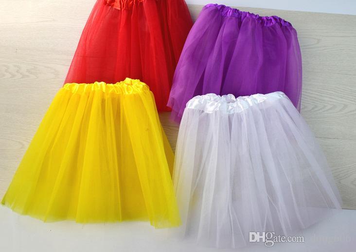 Top Quality Candy Color Kids Tutus Skirt Dance Dresses Soft Tutu Dress Ballet Skirt 3 Layers Children Pettiskirt Clothes