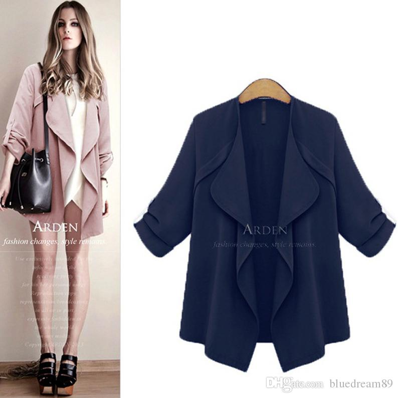 c897c48b93a Autumn Plus Size Jackets Women Fat Woman Coat Loose Thin Cardigan Jacket  Fashion Oversized Winter Jackets For Women Wholesale Italian Leather  Jackets Woman ...