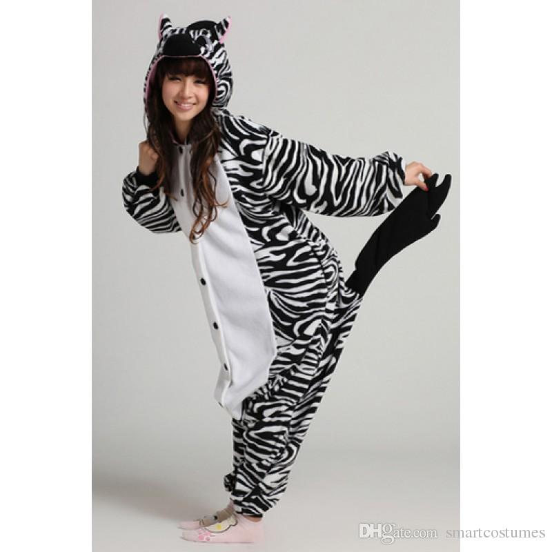 Adult Size Zebra Unisex Fannel Animal Onesie Kigurumi Themed Costume Party Group Costumes For Adults From Smartcostumes $20.0| Dhgate.Com  sc 1 st  DHgate.com & Adult Size Zebra Unisex Fannel Animal Onesie Kigurumi Themed Costume ...