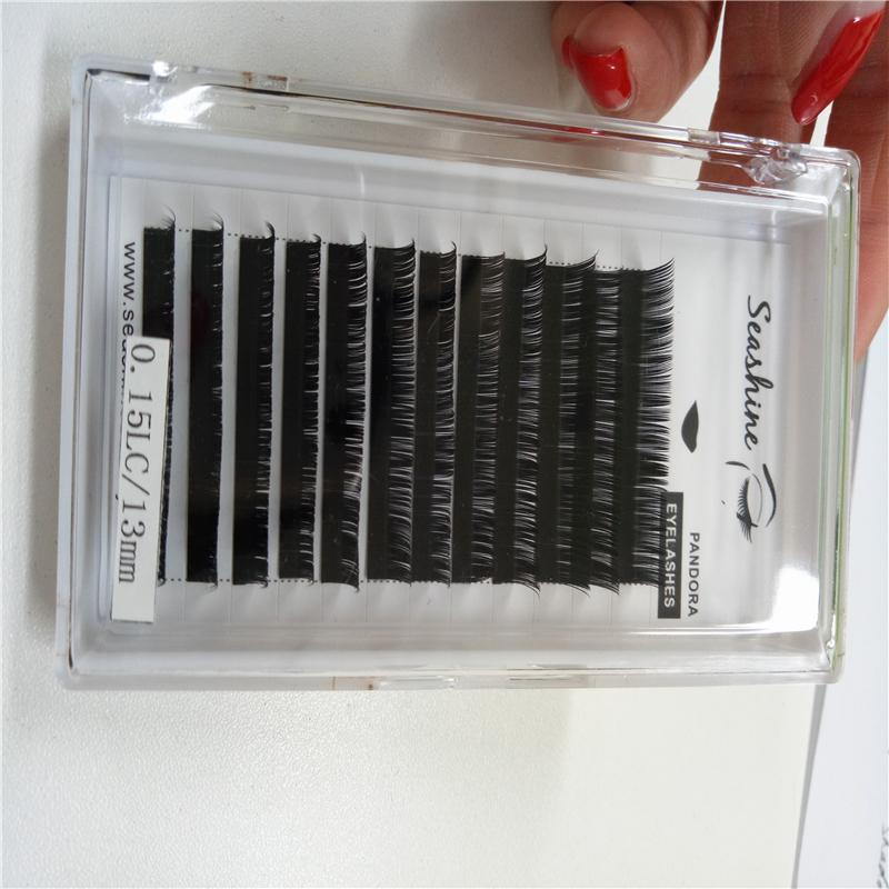 LC Curl Synthetic Eyelashes Individual False Eyelashes 10-14mmLength Fake Eyelashes Extension