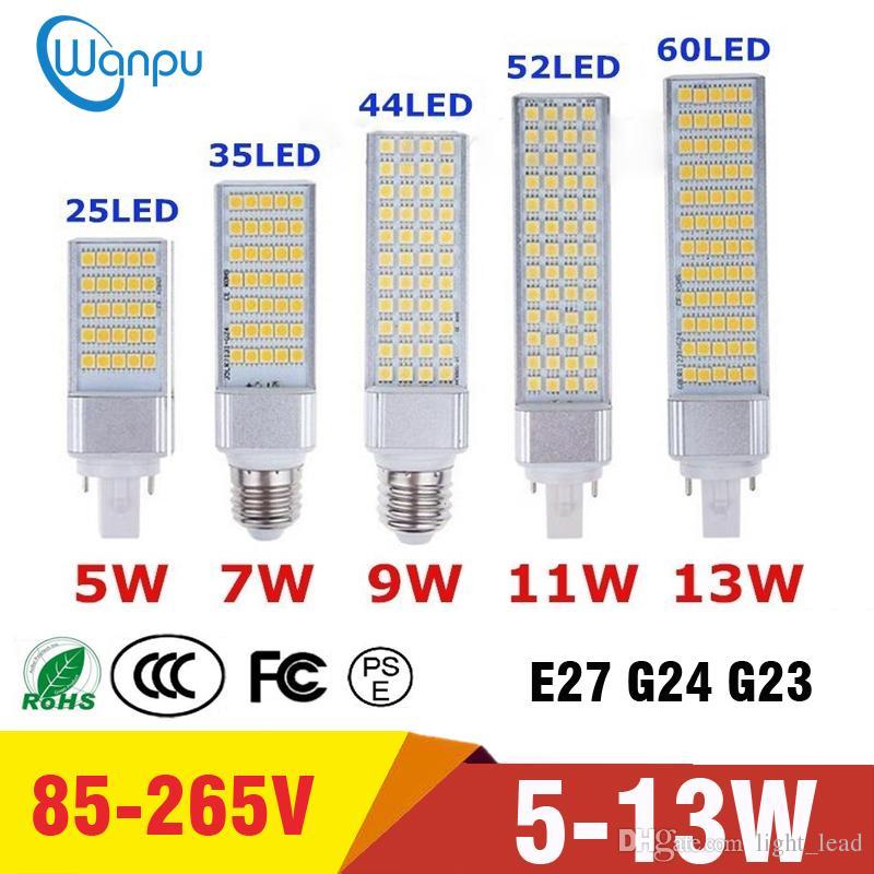 180 Smd Ampoules Lumière 265v E27 Ac85 Projecteur Prise G23 Degrés G24 Maïs Led 5050 De Horizontale Ampoule SpMqzVUG