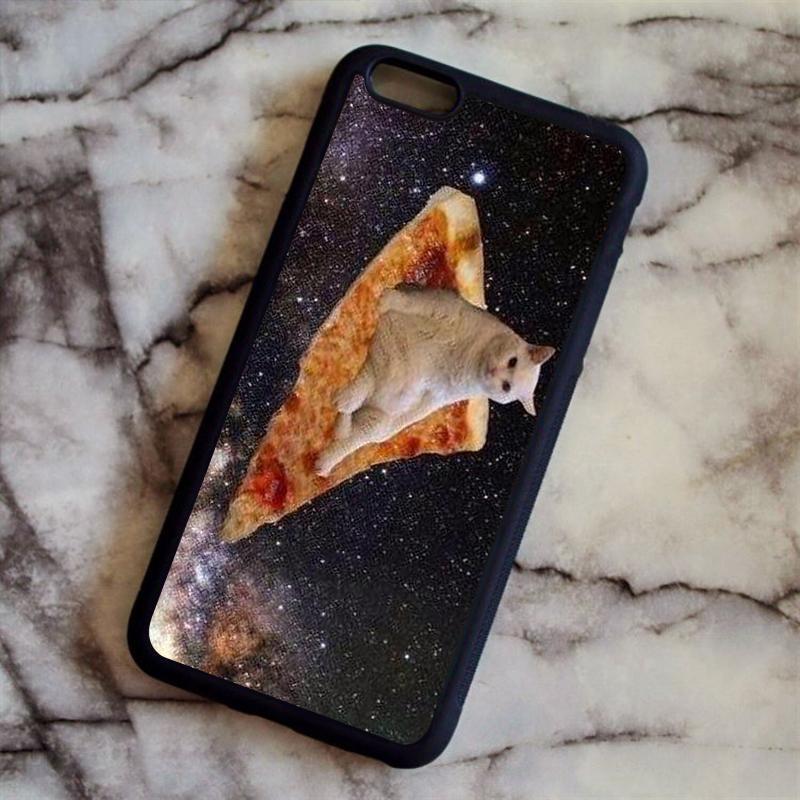 Selbst Gestalten Handyhülle Pizza Katze Im Raum Lustige Telefon ...