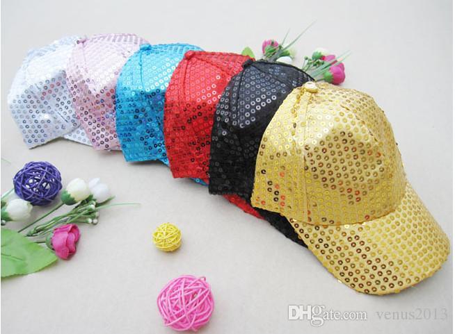 نادي راقصة أداء مرحلة الترتر حزب كاب الكبار الأطفال قبعة بيسبول بريق متألقة لامعة القبعات قابل للتعديل الملونة هدية عيد الميلاد