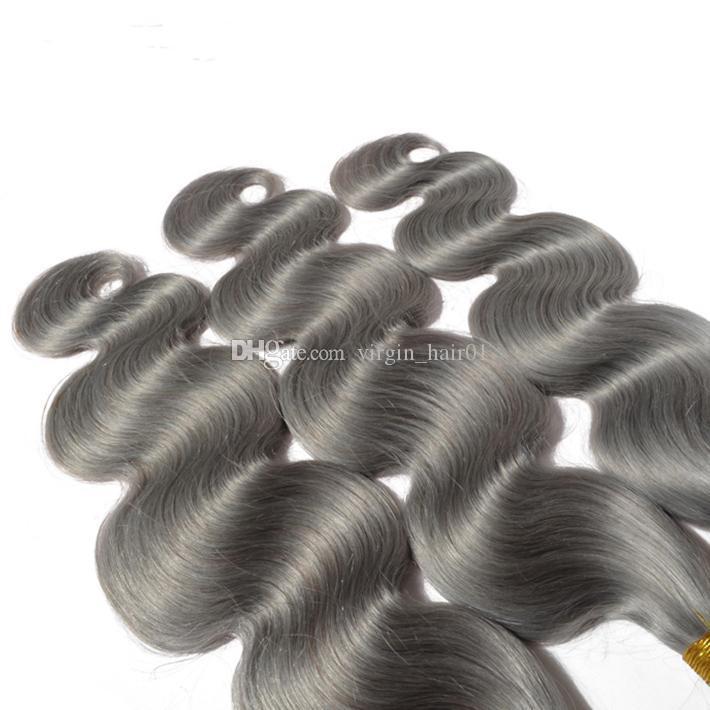 جديد وصول 9a الصف الماليزي الجسم موجة رمادي الشعر نسج الفضة رمادي الجسم موجة الشعر الإنسان ملحقات رمادي عذراء الشعر للبيع
