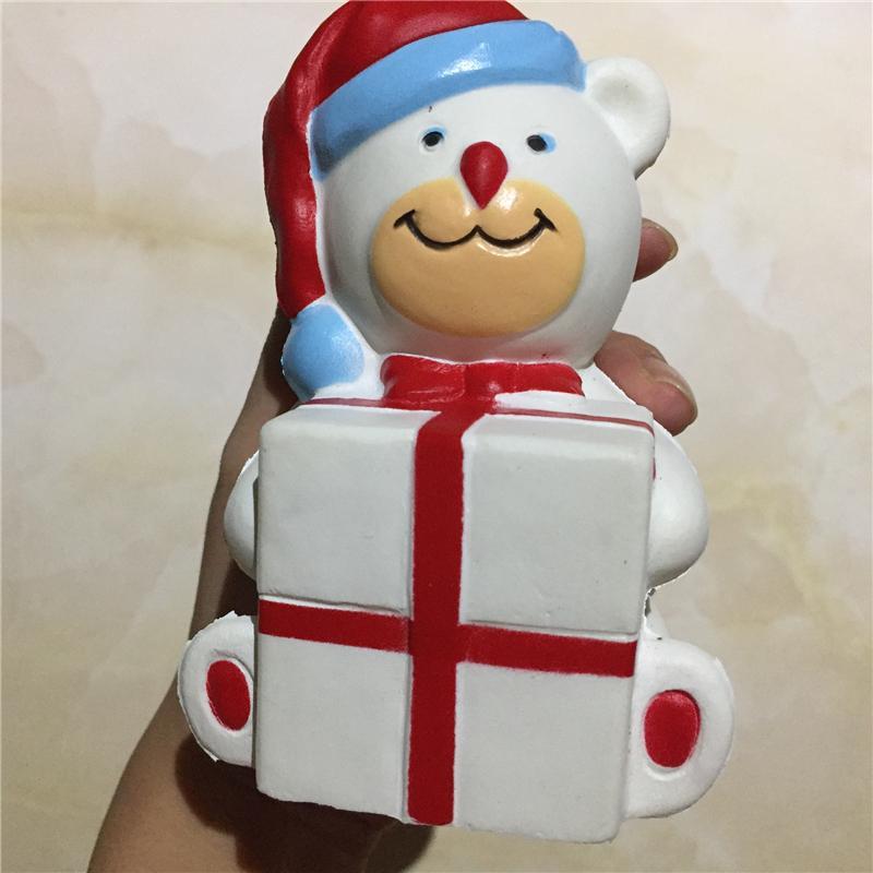 11.5 * 7 * 8 см Новогодние украшения Свадебные подарки Смола Handcraft украшения мультфильм PU Slow Rebound Моделирование Buck Xmas игрушки медведь Белый Синий