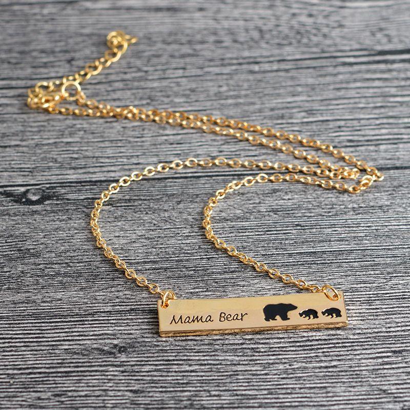 Honig-Familie Mama Bär Bar Halskette Geschenke für Familie Mütter Tag Geschenk Ideen Geschenke für Mama Oma