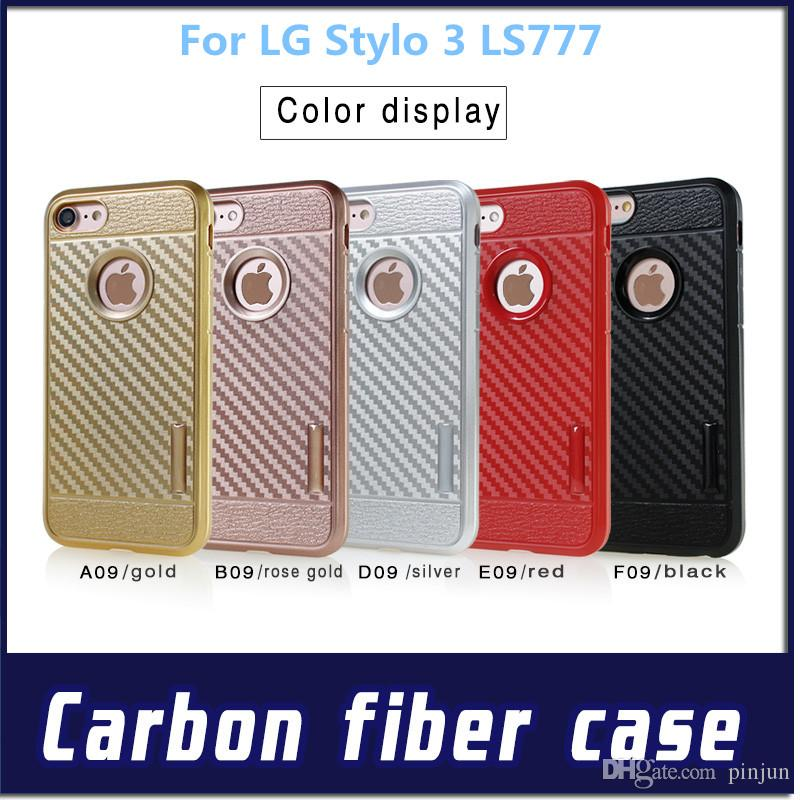 Flexible Spray Paint Part - 41: Cool Spray Paint Carbon Fiber Grain Flexible Tpu New Hot Case For Lg K20  Plus For Lg Aristo Lv3 Ms210 For Lg Stylo 3 Ls777 Leather Cell Phone Cases  Phones ...