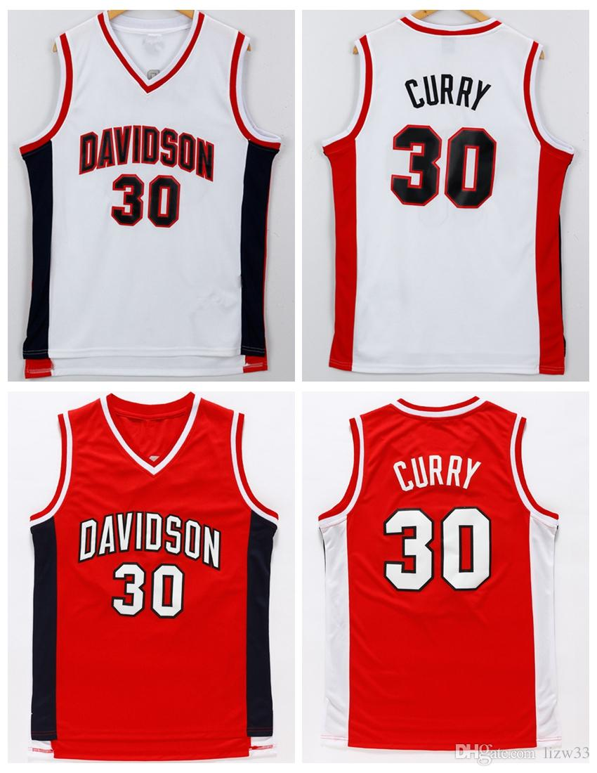 new style 9b54b e682d authentic stephen curry davidson jersey