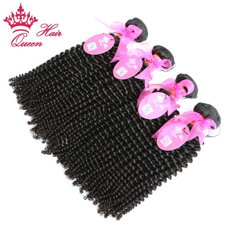 Queen Hair No Tangle Brasilian 100% Obehandlat Virgin Hair Kinky Curly 10-30Inches 500g / Top Beauty Hair Weave