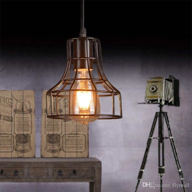 Loft Retro Hängelampe Industrial Minimalist Eisen Pendelleuchte Bar Cafe Restaurant Warehouse E27 Lampenfassung Vintage Lights