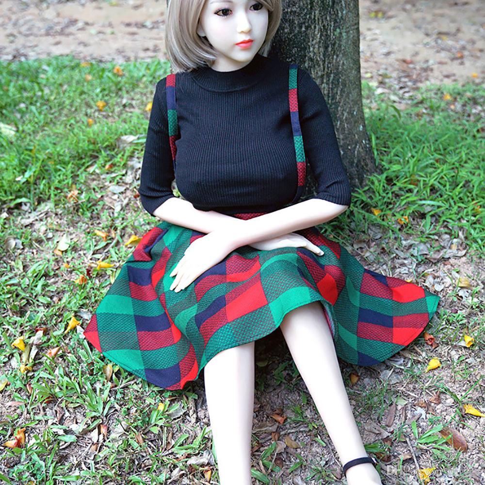 Bambole del sesso del silicone 160cm Veri piccoli reali Giocattoli adulti vaginali Masturbazione maschile giapponese Corpo realistico della ragazza Le bambole sessuali