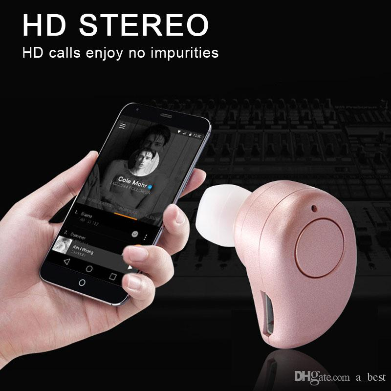 Mini sem fio Bluetooth Mic fone de ouvido estéreo invisível In-Ear Earbuds Headsets auscultadores S530 Além disso iPhone Samsung Para
