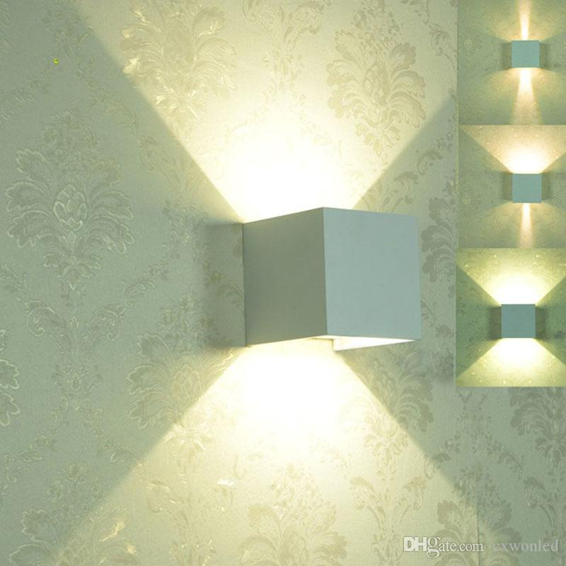 Led duvar ışık 85-265 v 7 w 12 w IP65 su geçirmez Yatak Odası Başucu Işık Oturma Odası Balkon Koridor Duvar Lambası mordern basit tasarımlar