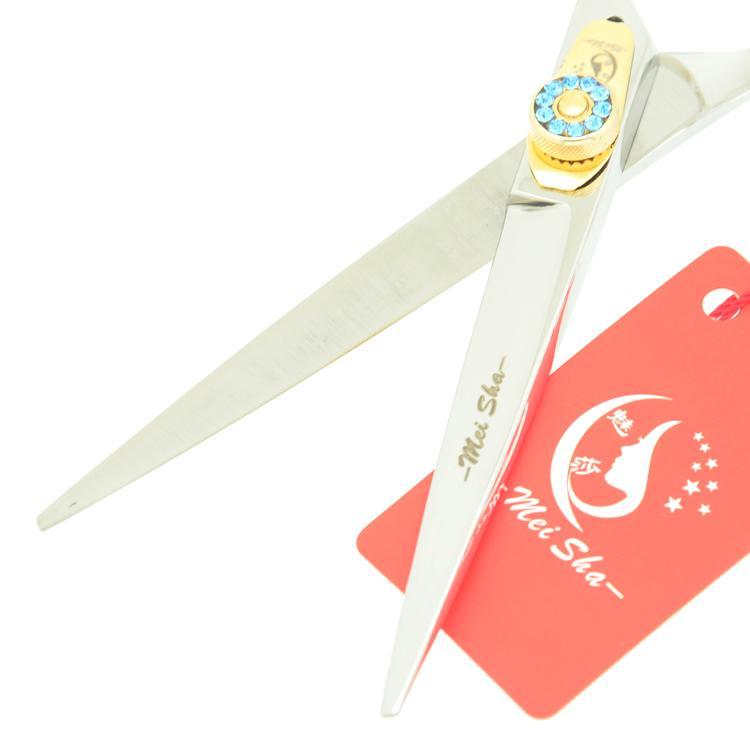 6.0Inch MeiSha JP440C Gem Screw Tijeras Salon Scissors Hot Cutting & Thinning Shears Professional Hairdressing Scissors Set, HA0252