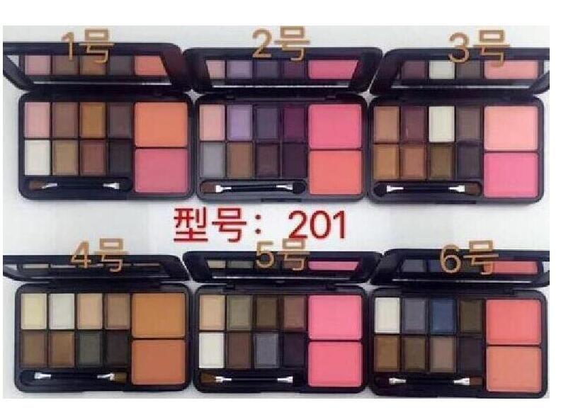 FRETE GRÁTIS Best Selling NOVA Maquiagem 8 CORES SOMBRA DE SOM + 2 cores blush