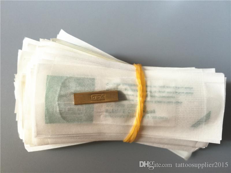 PCD 14pin иглы постоянные иглы одноразовые косметические брови татуировки иглы лезвие для 3D ручной вышивки Microblading
