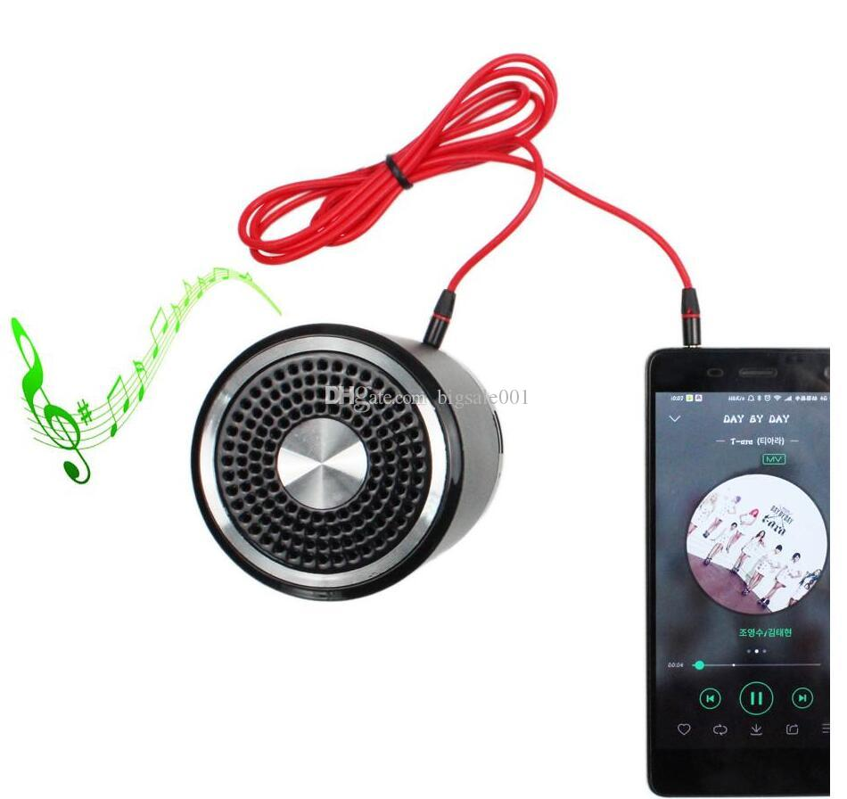 Red New 3.5mm to 3.5mm jack Round type Car Aux audio and Extended Audio Cable for iPhone5 5S 4 4S 2016