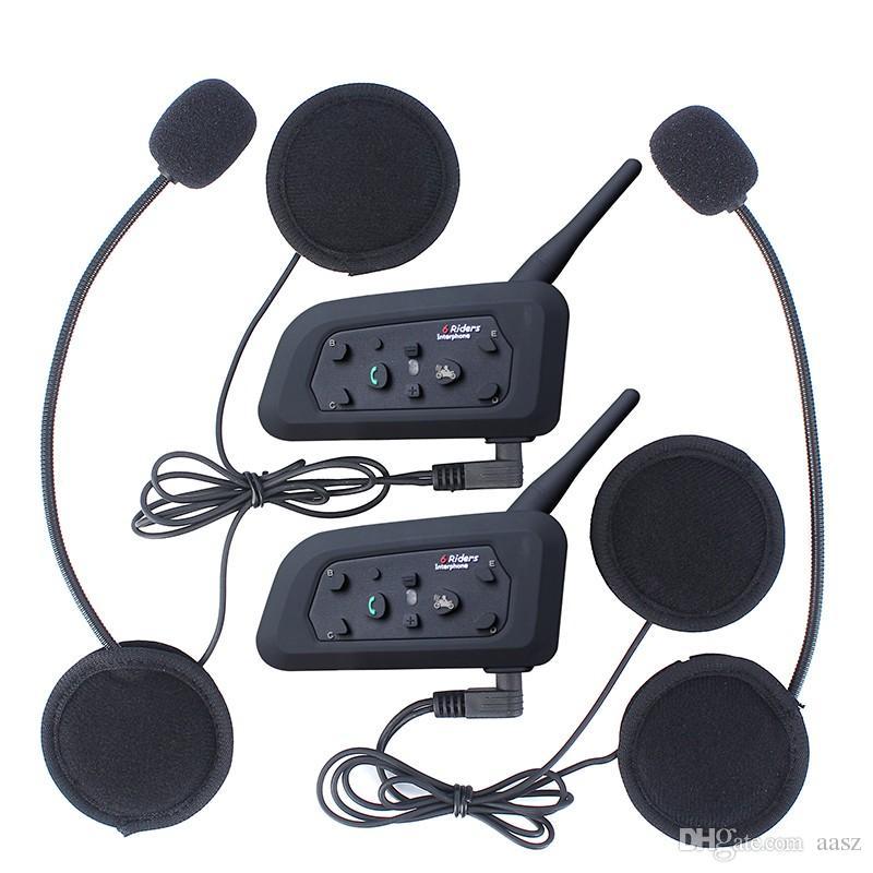 EJEAS V6 Walkie Talkie Pro Bluetooth Motorrad Intercom Helm Headset 6 Reiter 1200m Communicator Interphone + Exquisite Retail Box