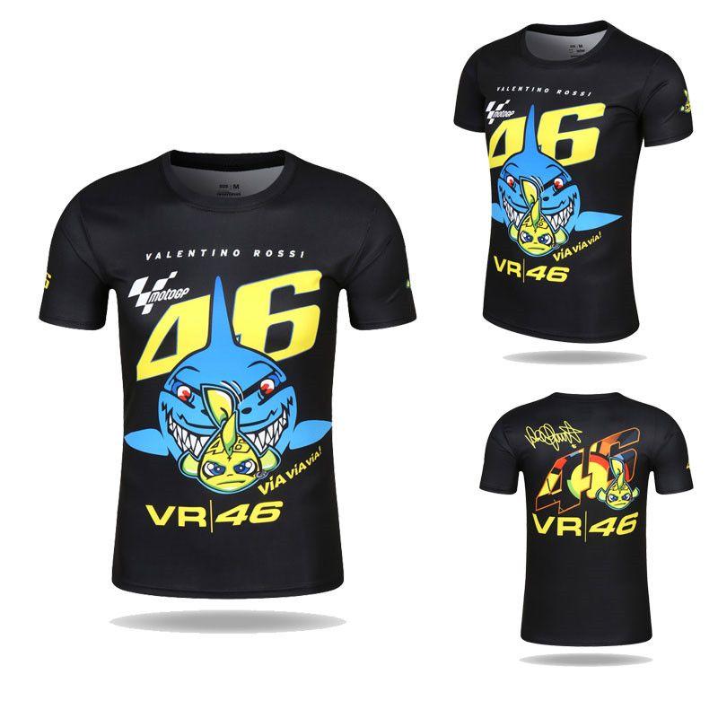 4222f263802b 2019 2017 New Shark T Shirt Motorcycle T Shirt Quick Dry Tee Valentino  Rossi 46 Jersey Short Sleevd VR46 The Doctor MOTOGP T Shirt From  Kristina0523