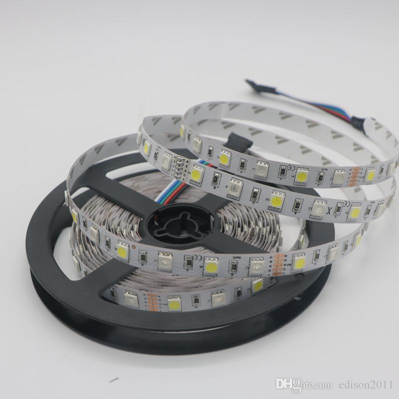 Edison2011 5050 RGB Led Strip RGBW RGBWW 5050 LED Strip Light 12V 60LED/M RGB+White RGB+Warm White Led Tape Decoration Lighting