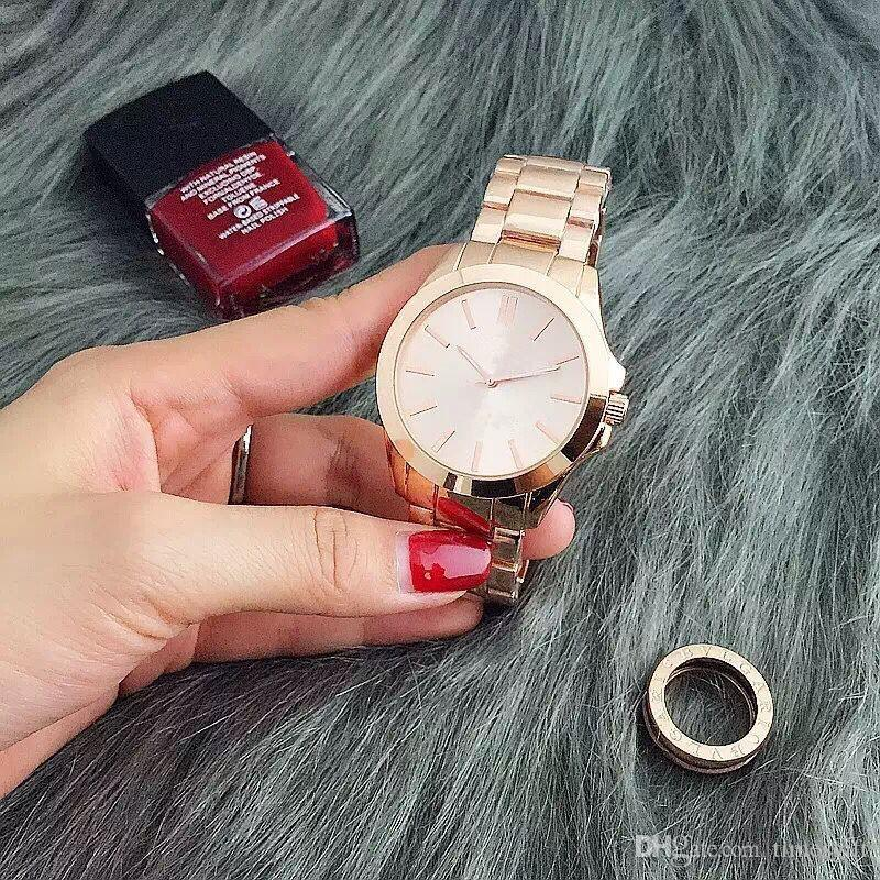 Роскошные Мода Женщины Часы Из Нержавеющей Стали Роскошные Леди Большой Розовый Циферблат Наручные Часы Известный Высокое Качество Женщин Платье Час Бесплатная Доставка