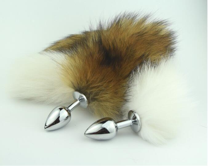 Ultima sexy tappo anale in acciaio inox con fox real fox tallone anus plug adulto bdsm prodotto sesso giocattolo taglia s m l