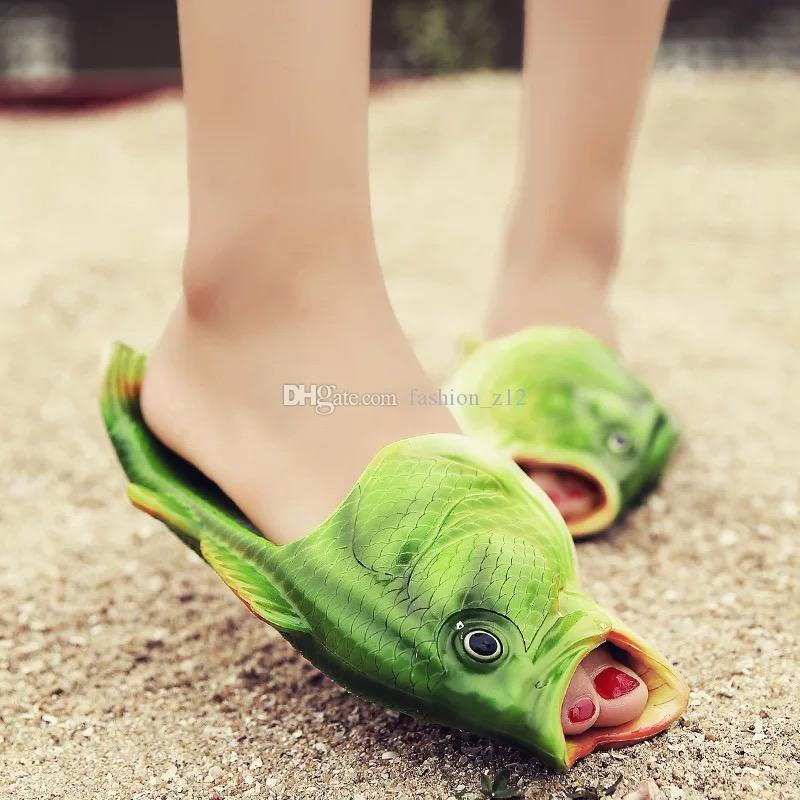 Wholesale Creative Funny Fish Shaped Slippers, Lovers Men ...