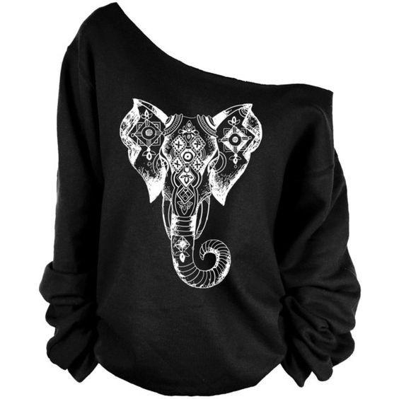 63f6826ffcacd1 Women S Fashion Clothing Ivory Ella Womens Sweatshirt Long Sleeves Women  Fleece Tops Elephant Print T Shirt Sexy Canada 2019 From Jeweltime8