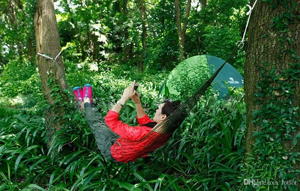 Swing Sleeping Bed Nylon HangNet Sleeping Hammock Hamaca Hamac Portable Garden Outdoor Camping Travel furniture Mesh Hammock