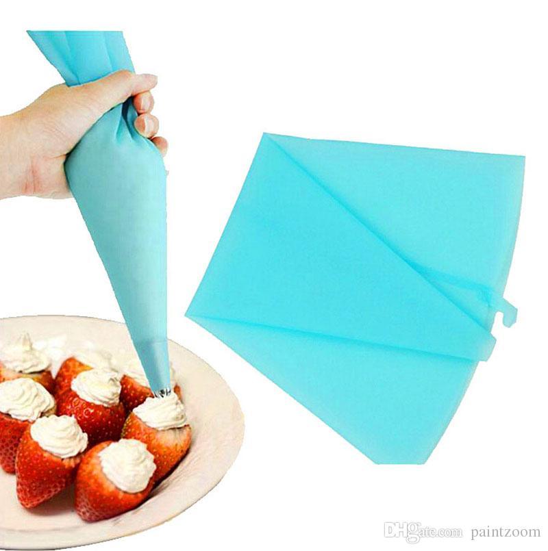 Atacado de silicone de confeiteiro de tubulação de decoração saco de creme de pastelaria sacos bolo decoração ferramenta reutilizável ferramentas de cozimento