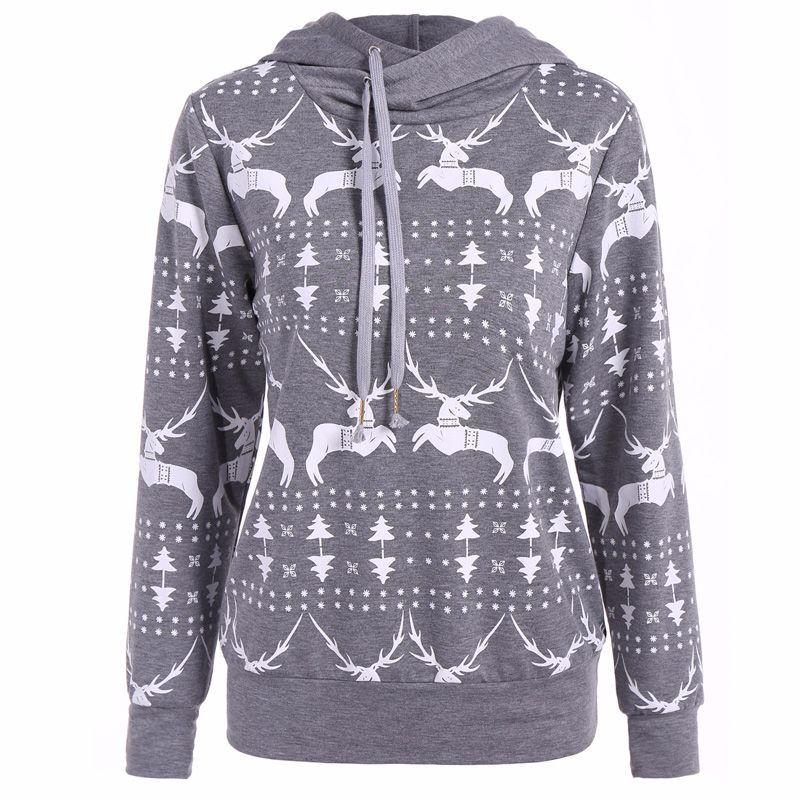 2018 mayfull women new large size women christmas reindeer sweater hoodie printed into long sleeves blouse from tumangui 19 1 dhgate com