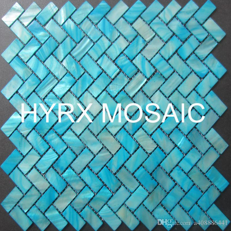 new style mother of pearl tile herringbone shell mosaics floor wallkitchen backsplash tiles from a408886441