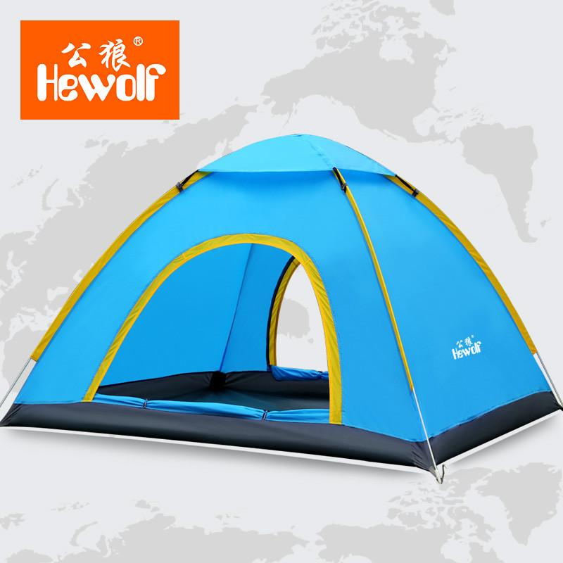 Hewolf Ultralight 3 4 Person Quick Open Tent Waterproof Fully Automatic Tent 4 Seasons Anti Uv Single Layer Beach C&ing Tent Tent Sales 4 Man Tent From ...  sc 1 st  DHgate.com & Hewolf Ultralight 3 4 Person Quick Open Tent Waterproof Fully ...