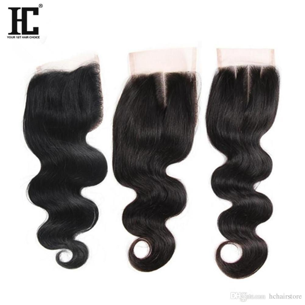 HC волосы бразильские девственные волосы с закрытием 3 пучки бразильские перуанские Малайзийские индийские человеческие волосы плетение объемная волна с закрытием шнурка