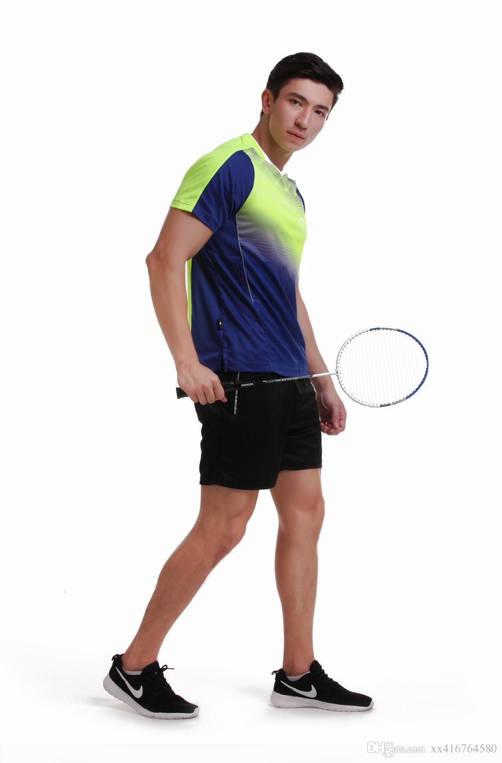 Sportswear sweat Quick Dry breathable badminton shirt , Women/Men table tennis clothes game running training Exercise Wear T Shirts