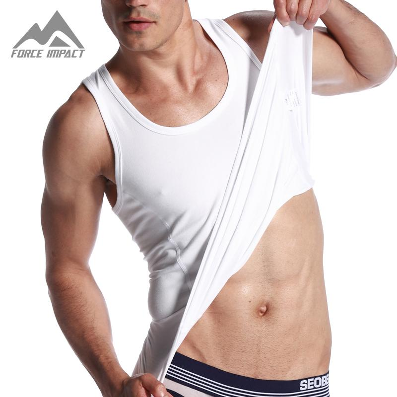 fe3e8e998d4b9 2018 Wholesale Classic Fashion Sexy Cotton Men S Undershirts Casual Men S  Tees 2016 New Sleeveless Fitness Men S Tank Top Slim Fitted Tees Xb06 From  Caesarl ...