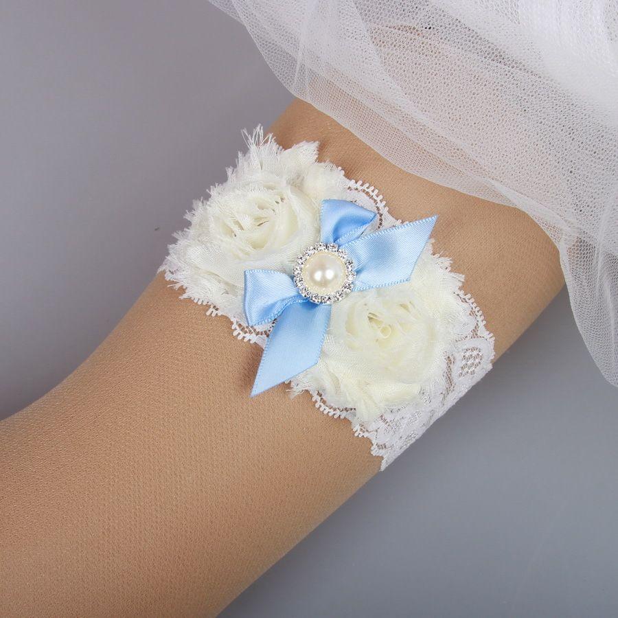 Vintage Lace Wedding Garter Set: Wedding Bridal Garter Set Handmade Flower Rhinestones
