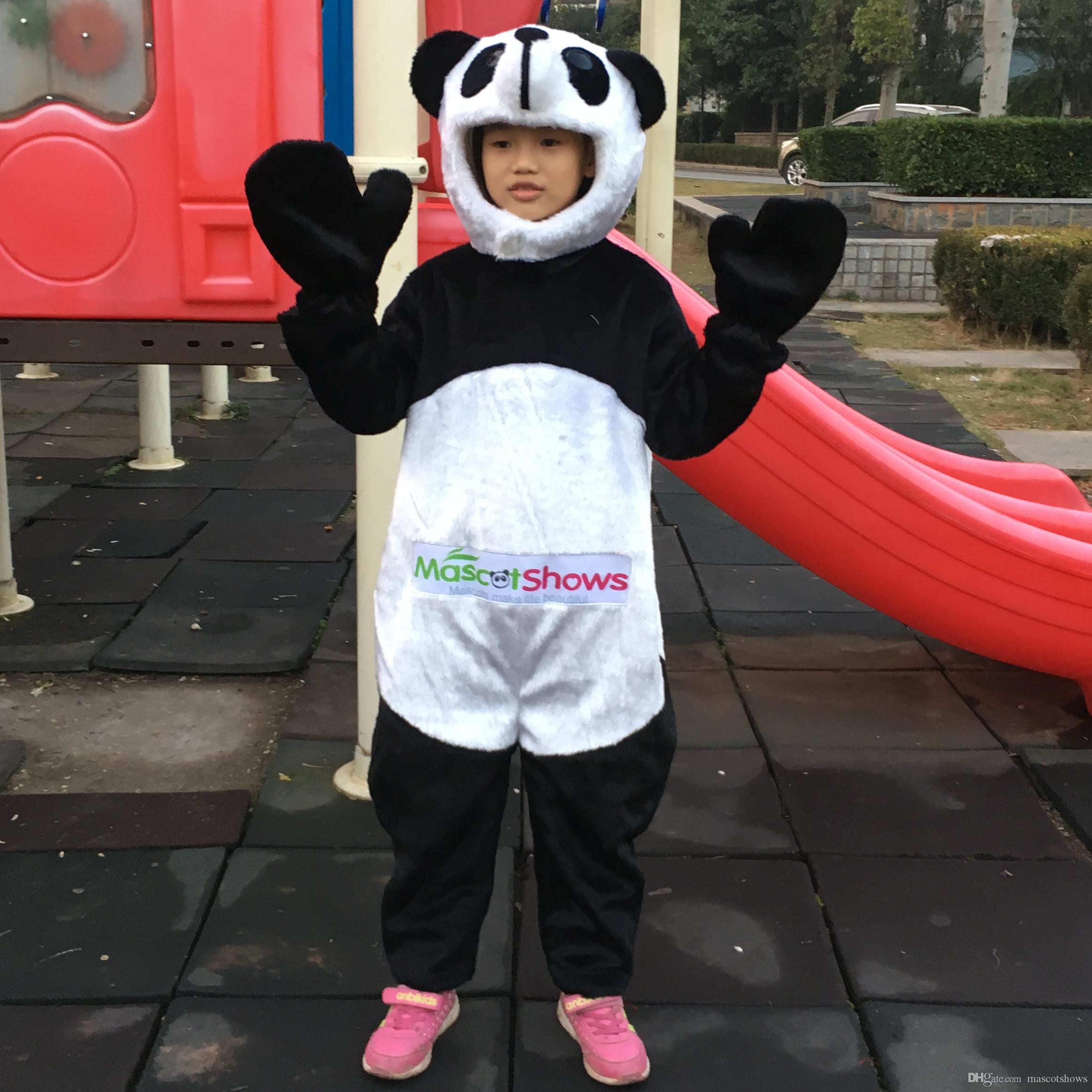 Adorable Show Face Panda Bear Mascot Costume For Kids For Halloween Birthday Party Cartoon Charater Fancy Dress Size 110cm 130cm Mascot Masks Custom Mascot ...  sc 1 st  DHgate.com & Adorable Show Face Panda Bear Mascot Costume For Kids For Halloween ...