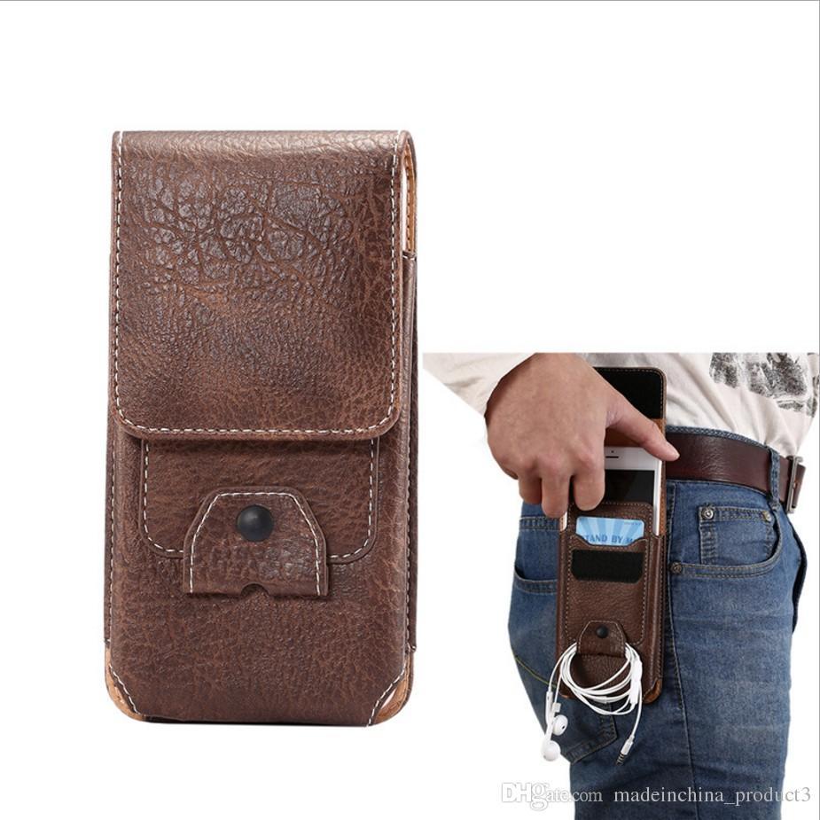 ... Holster Ceinture Ceinture Taille Hommes Flip En Cuir PU Sac De  Couverture Horizontal + Vertical Mobile Phone Case Pour Iphone 7 6 6 S Plus  Galaxy S8 ... d3781d63eec