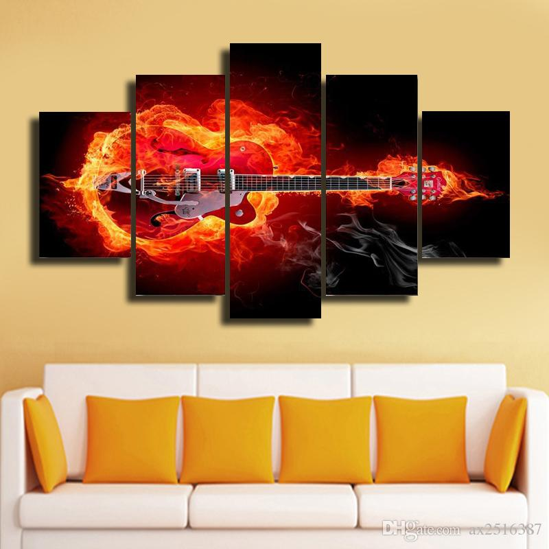 5 Panels Framed Wall Art Pictures Print On Canvas Painting For Home ...