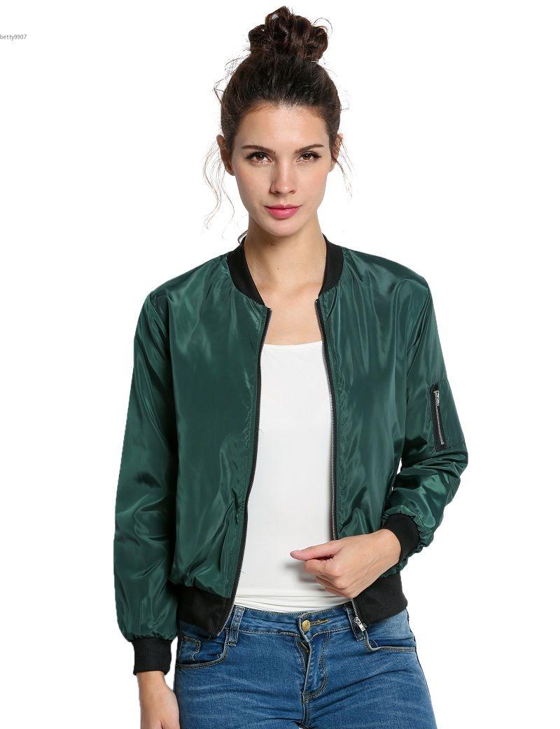 2018 Chaqueta Thin Compre Bombardero Primavera Mujer Ropa De Slim qn6zt0