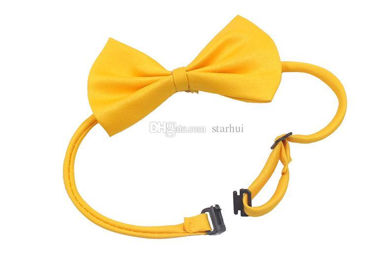 Ajustável Dog Pet Bow Colar Acessório gravata Collar filhote de cachorro Cor Viva Pet Bow Mix Cor WX-G15