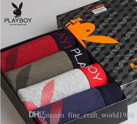 fb45b671302e81 Großhandel Großhandel Playboy Geschenkbox Stretch Baumwolle Mens  Unterwäsche Unterhose Hosen Hüfte Von Fine_craft_world1988, $28.43 Auf ...