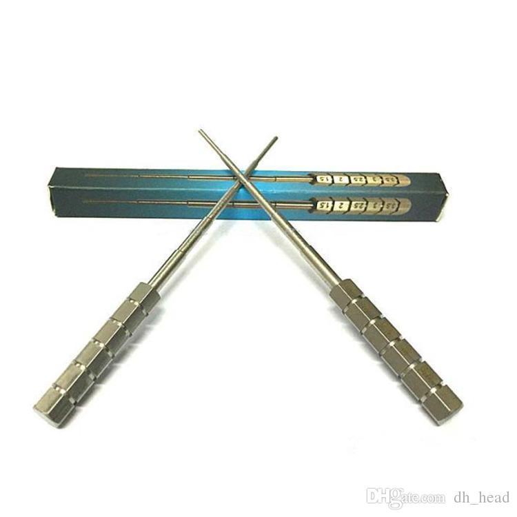 싱글 팩 스테인레스 스틸 코일 도구와 함께 마이크로 미니 코일 공연 SS 랩핑 코 일러 위크 코일 스크루 드라이버 RDA Atomizer 용 DIY 도구