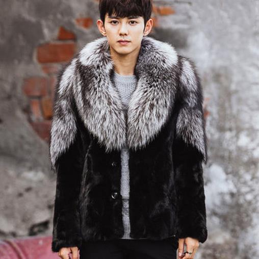 2018 Clobee Men Faux Fur Coats 2017 Mens Long Sleeved Faux Fur ...