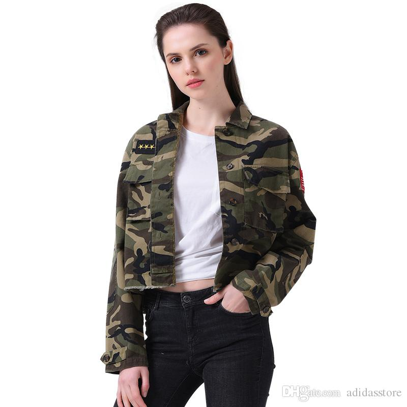 Jacket Women Fashion 2017 Army Green Denim Bomber Jackets Women ...