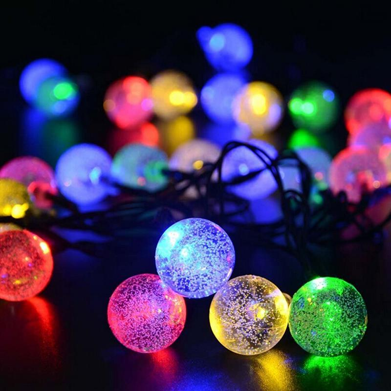wholesale 20 clear outdoor globe festoon party led ball connectable string fairy light led christmas lights fairy wedding garden garland outdoor string