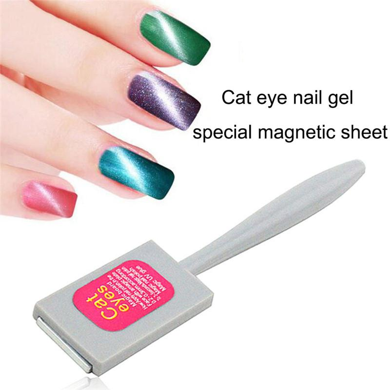 Wholesale Professionals Women Nail Art Manicure Tool Magic Magnetic Board Sticker Cat Eye Gel Polish For Diy Tools Acrylic