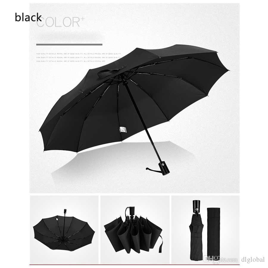 Paraguas a prueba de viento automático Paraguas plegable Tres Plus Gran empresa Paraguas soleado plegable